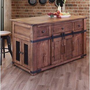 rivard 3 drawer kitchen island - Wayfair Kitchen Island