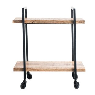 Noella Wood/Metal 2-Tier Bar Cart