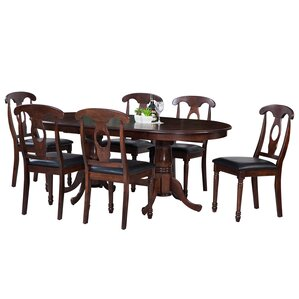 Doretha Traditional 7 Piece Dining Set (Set of 7..