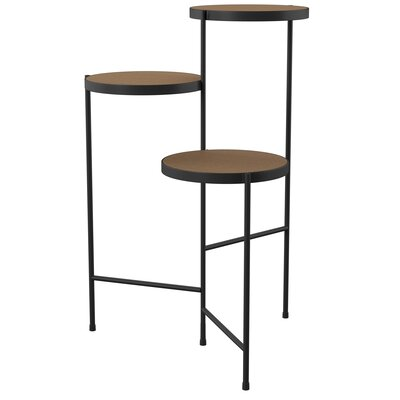 Mercury Row Logan Square Multi-Tiered Plant Stand Color: Black