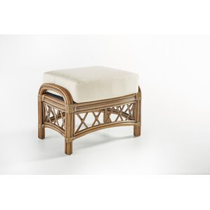 Nadine Bamboozle Plantain Ottoman by South Sea Rattan