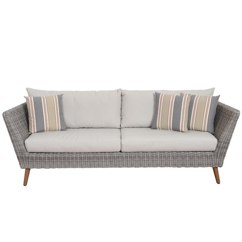 Newbury Patio Sofa With Cushions