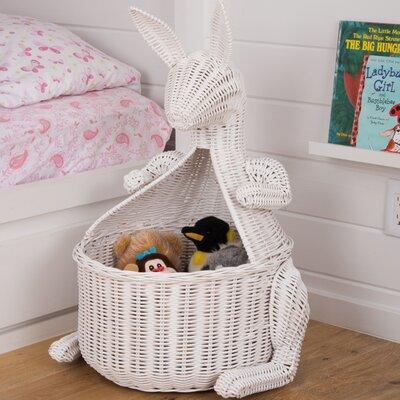 Kangaroo Wicker Storage Basket & Harriet Bee Kangaroo Wicker Storage Basket u0026 Reviews | Wayfair