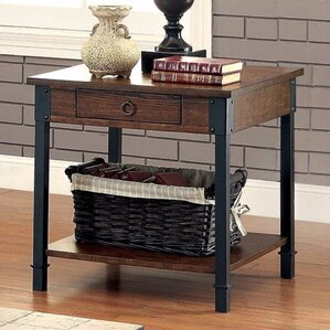 Braden Industrial End Table by 17 Stories