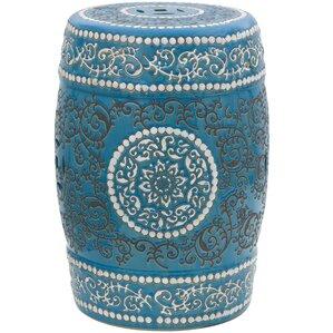 Simple Blue Ceramic Garden Stool Porcelain In Inspiration Decorating