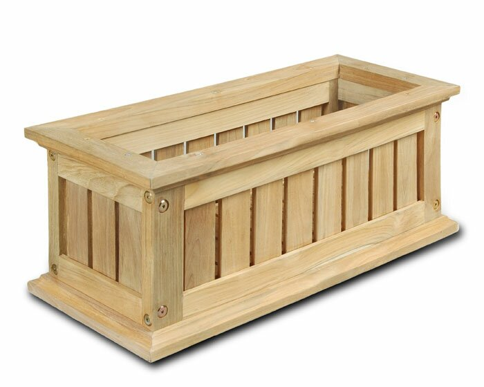 Lexington Wood Window Box Planter