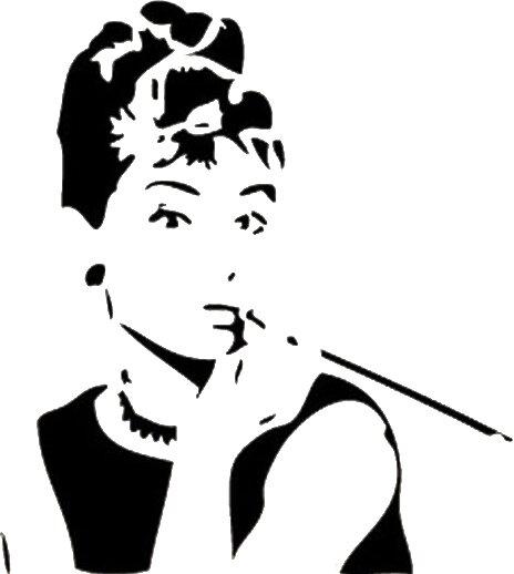 East Urban Home Wandtattoo Audrey Hepburn