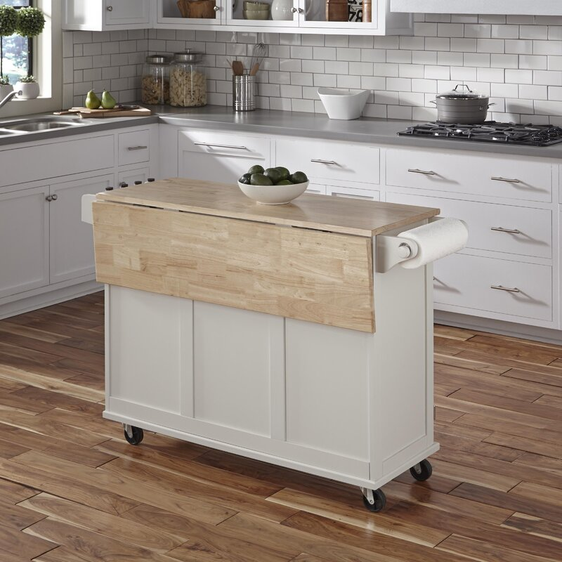 Kitchen Update With Brookhaven Island Desk: Andover Mills Kuhnhenn Kitchen Island & Reviews