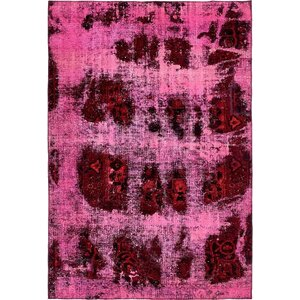 Sela Traditional Vintage Persian Hand Woven Wool Pink Area Rug with Fringe