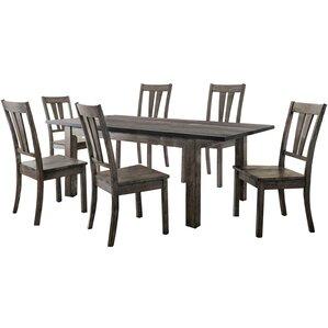 Sanda 7 Piece Wood Dining Set by Union Rustic