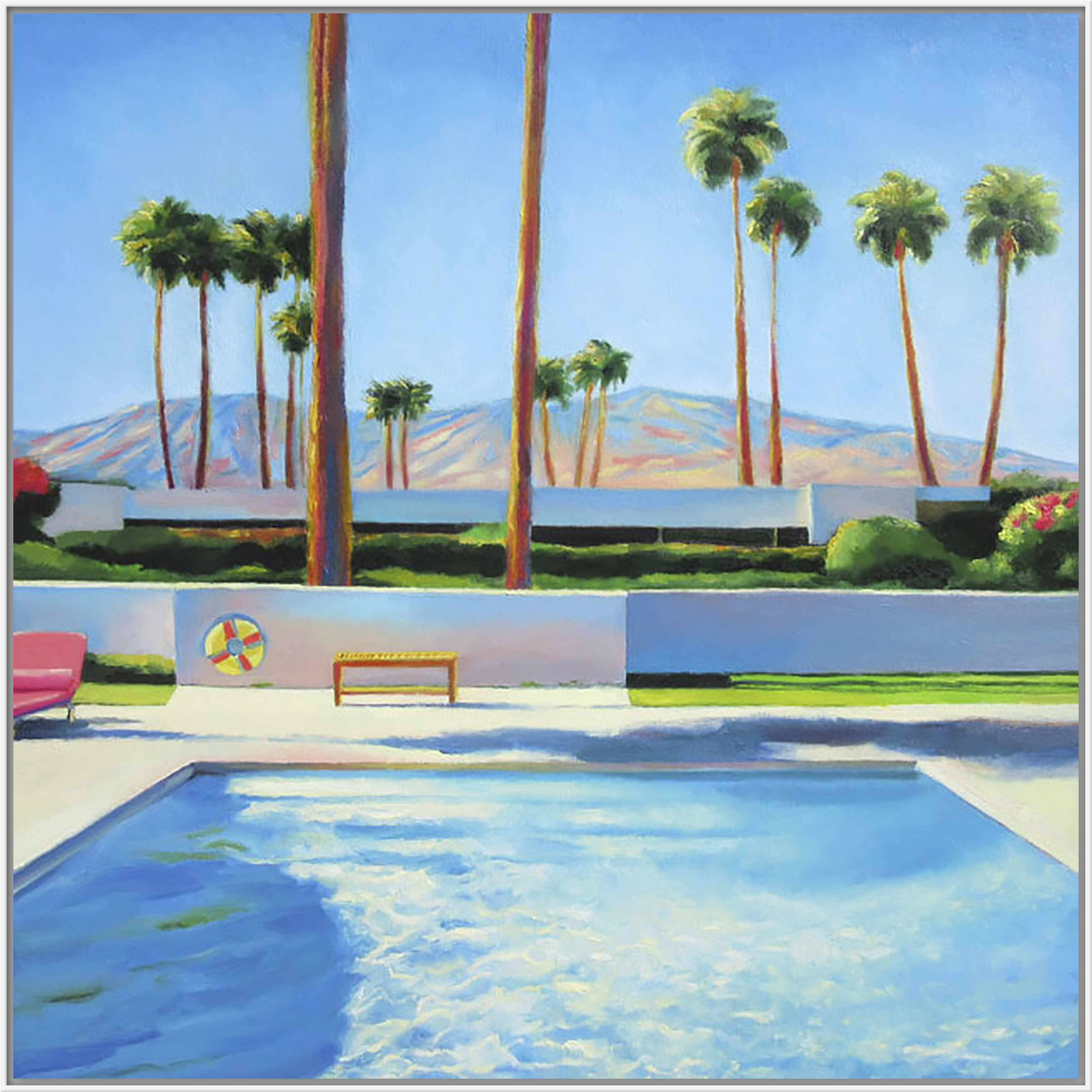 Wrought Studio \'Palm Springs Pool\' Acrylic Painting Print on Canvas ...