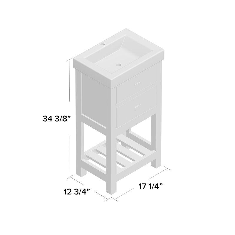 Zipcode Design Knighten 17 Quot Single Bathroom Vanity Set