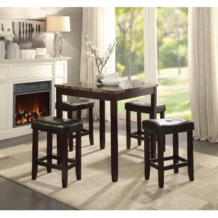 Kuhns 5 Piece Counter Height Dining Set
