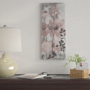 341a49de860c 'Floral Symphony Blush Gray Crop II' Acrylic Painting Print on Wrapped  Canvas