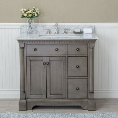 "ari kitchen & bath stella 36"" single bathroom vanity set & reviews"