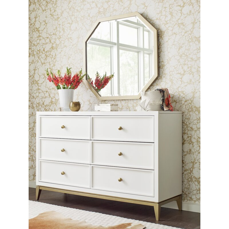 Rachael Ray Home Chelsea 6 Drawer Double Dresser With Mirror