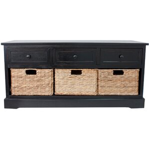 Black Entryway Table black entryway benches you'll love | wayfair