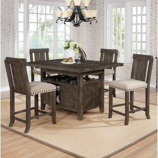 Sevier 5 Piece Counter Height Dining Set
