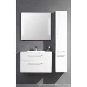 Belfry Bathroom 81 cm Wandmontierter Waschtisch Topic Action mit Spiegel