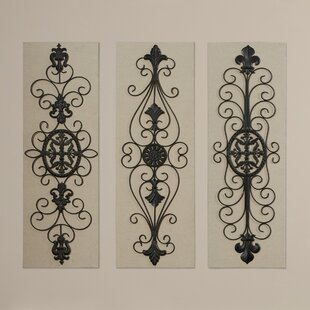 White Black Metal Wall Décor Set Of 3