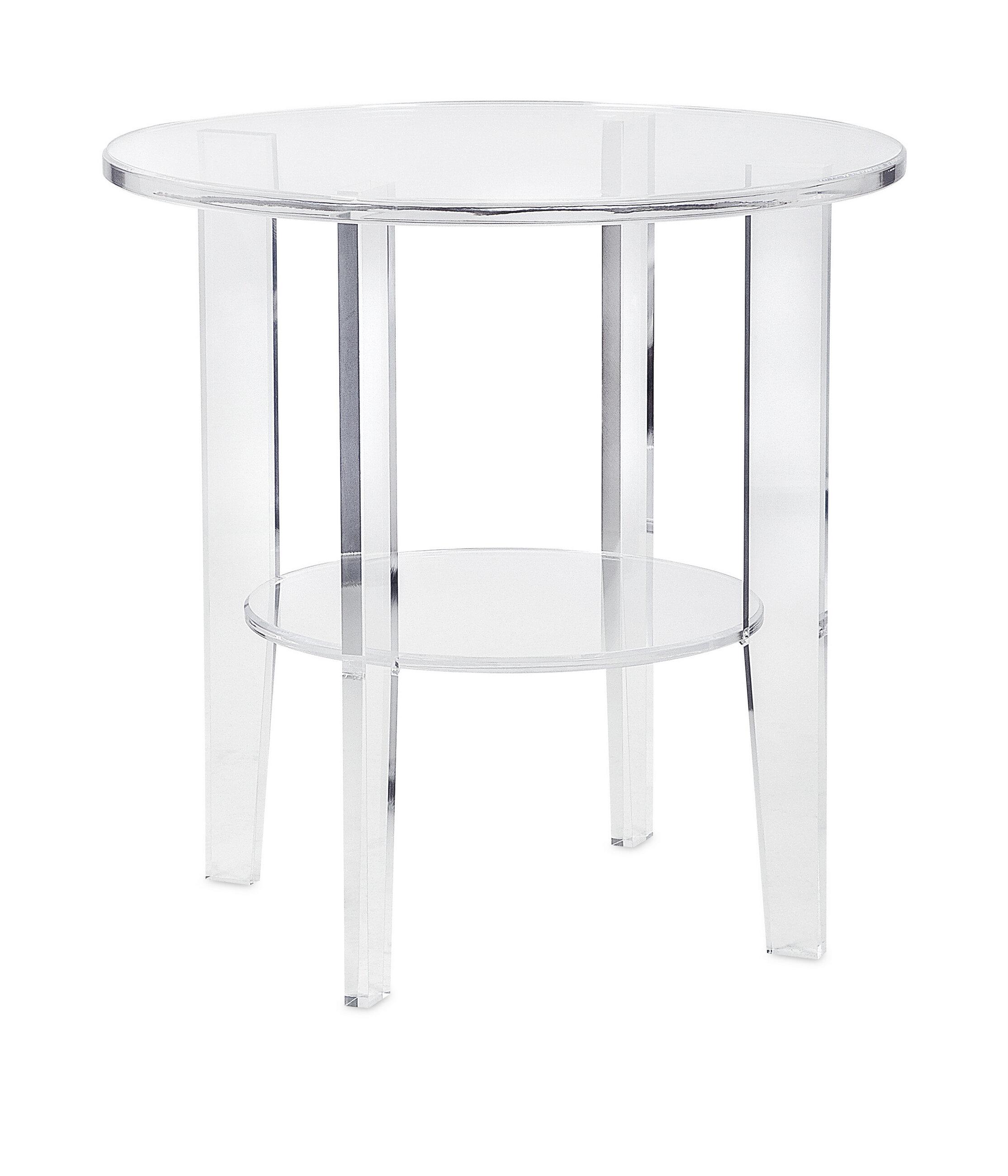 Acrylic Outdoor Furniture Aluminum Deck Allmodern Rosdorf Park Boykin Striking Acrylic End Table Wayfair