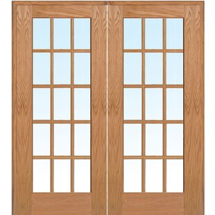Oak french doors wayfair wood 2 panel red oak interior french door planetlyrics Choice Image
