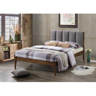 a37576f82bc1 Bish Mid-Century Fabric and Wood Platform Bed