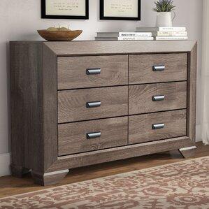 Carnegie 6 Drawer Double Dresser by Gracie Oaks