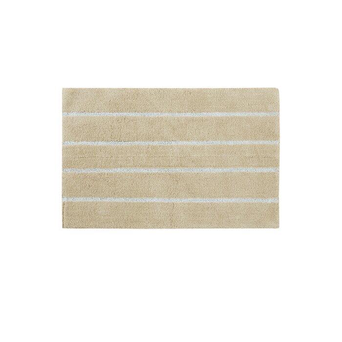Caufield Cotton Tufted Striped Bath Rug