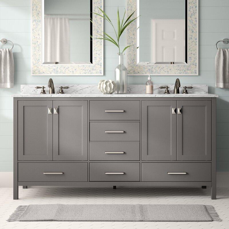 Beachcrest Home Newtown 72 Double Bathroom Vanity Set Reviews