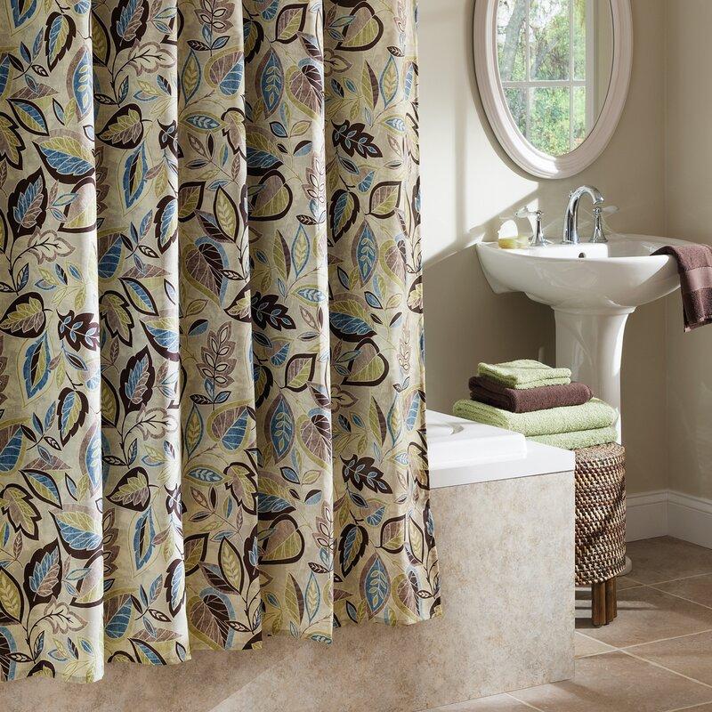 Red Barrel Studio Williams Jacobean Leaf Shower Curtain & Reviews ...
