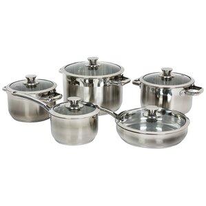 10-Piece Gourmet Stainless Steel Cookware Set