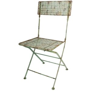 Industrial Heritage Folding Patio Dining Chair