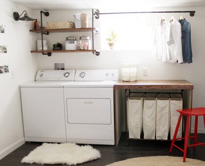 After Stylish Laundry Room