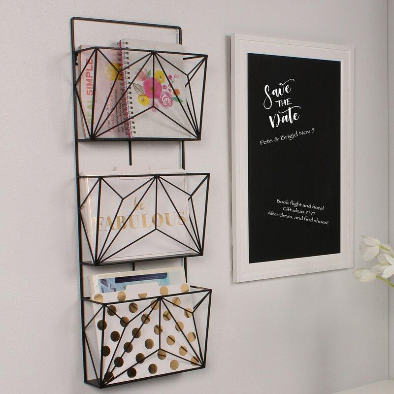 Hanging Book Rack kate and laurel 3 pockets hanging wall magazine rack & reviews