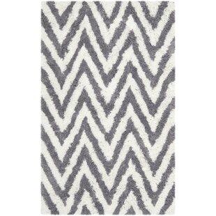Price comparison Haupt Gray/White Area Rug ByMercury Row