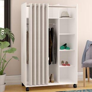 Loke Mobile Curtain Storage Center Armoire