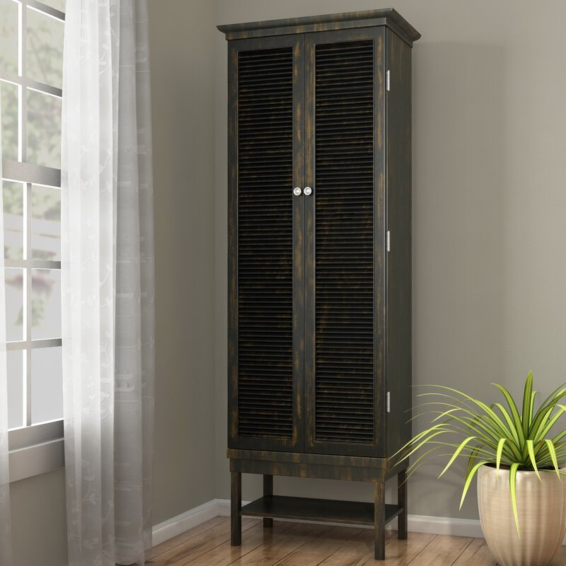 Ouellet Louvered Door 3 Drawer 2 Door Accent Cabinet & August Grove Ouellet Louvered Door 3 Drawer 2 Door Accent Cabinet ...