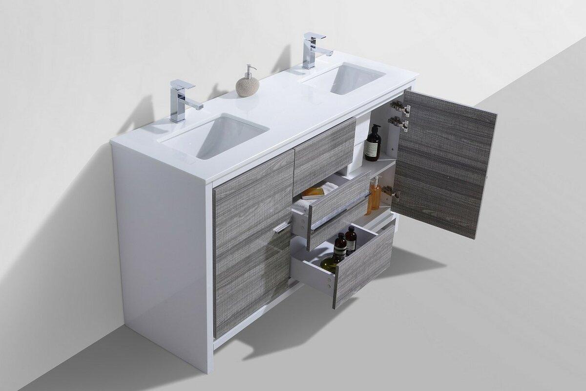 Bathroom Vanity Set. Bosley 60  Double Modern Bathroom Vanity Set Reviews AllModern