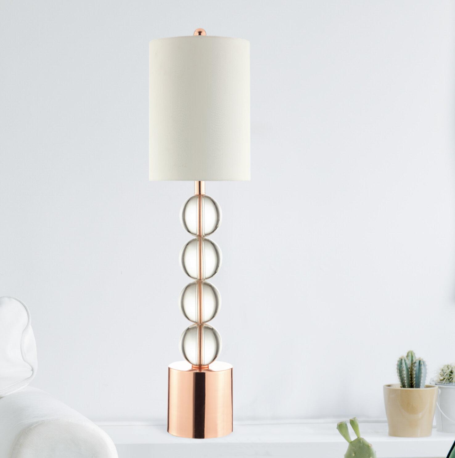Mercer41 Ester Glass Stacked Ball 36 Table Lamp Wayfair