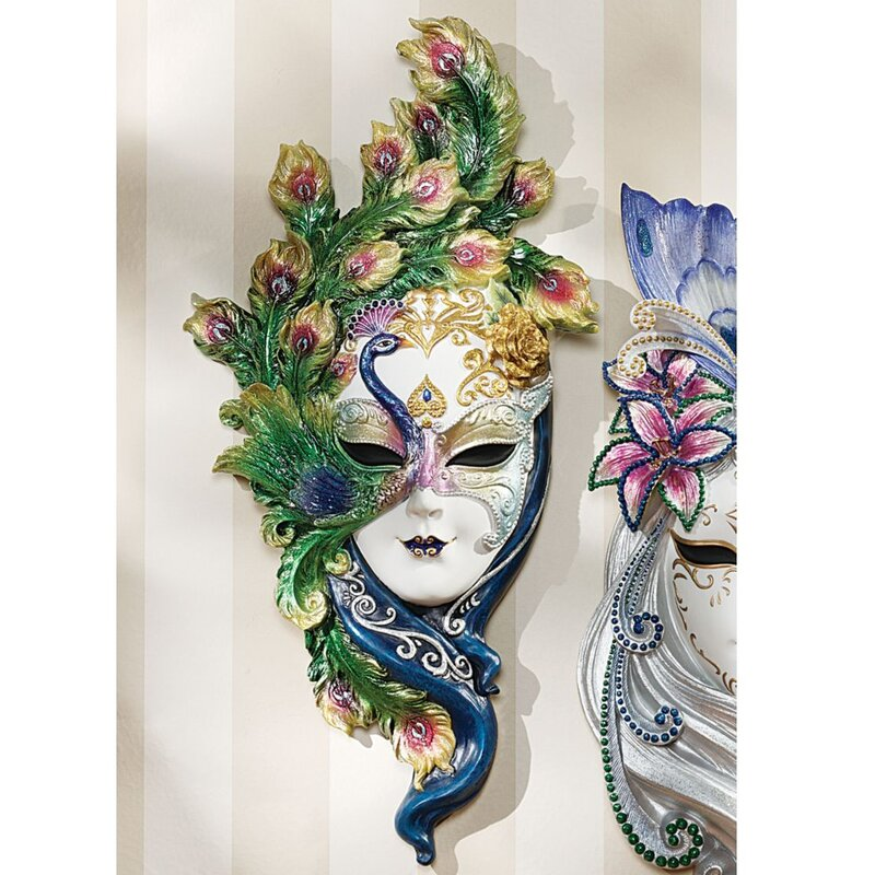 Superieur Mask Of Venice Peacock Wall Décor