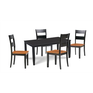 Almeida 5 Piece Extendable Solid Wood Dining Set