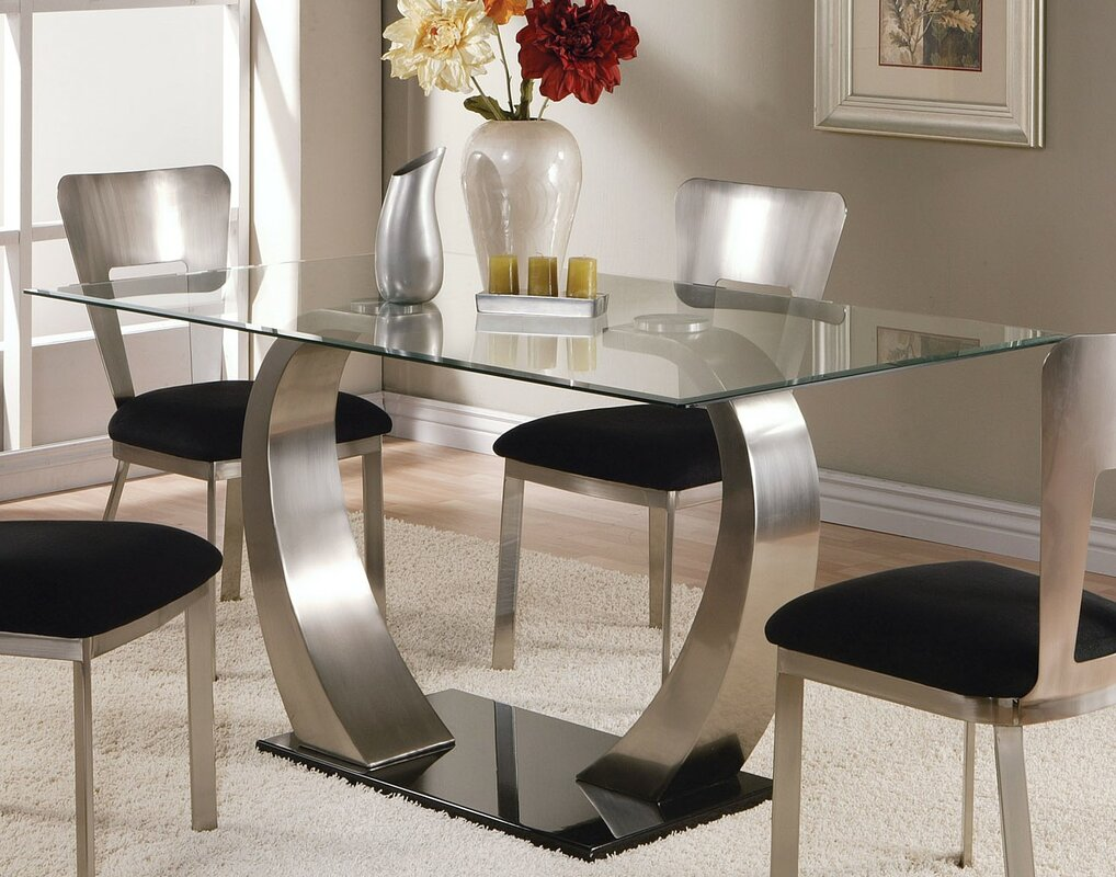 Glass Kitchen & Dining Tables You ll Love