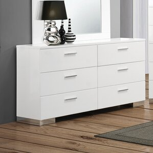 Felicity 6 Drawer Double Dresser by Wildon Home ?