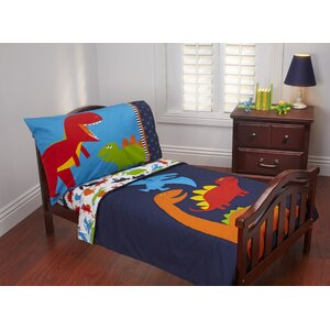 Prehistoric Pals 4 Piece Toddler Bedding Set
