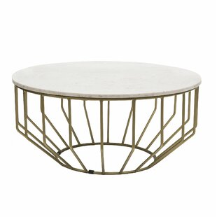 Genial Singletary Marble Round Coffee Table