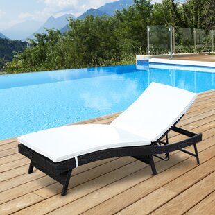 Shurtleff Reclining Chaise Lounge With Cushion
