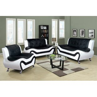 Chicoine 3 Piece Living Room Set