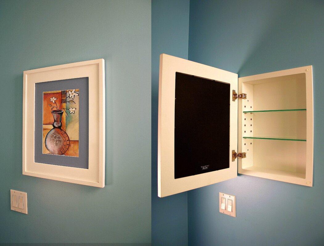 14x18 Concealed Recessed Picture Frame Medicine Cabinet