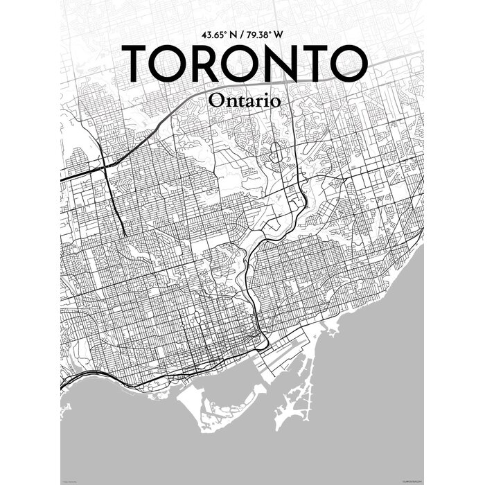Ourposter toronto city map graphic art print poster in tones toronto city map graphic art print poster in tones gumiabroncs Choice Image